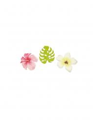 Tropisches Tisch-Konfetti Blüten 9 Stück bunt 3,8 cm