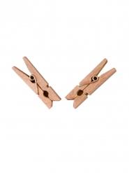 Kleine Holzwäscheklammern Deko Accessoire 25 Stück braun 6x3cm