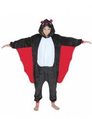 Niedliches Fledermaus-Kostüm für Kinder Halloween-Verkleidung schwarz-rot-weiss