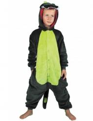 Dino-Overall Kostüm für Kinder Tier-Verkleidung grün