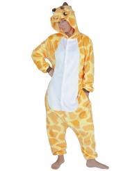 Giraffen-Kostüm Tier-Overall für Erwachsene gelb-weiss
