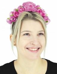 Blumenhaarband mit Rosen Accessoire für Damen rosa