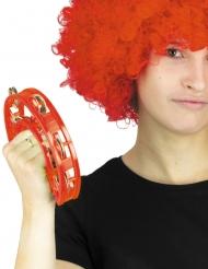 Tamburin Musik-Accessoire rot 40 cm