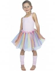 Regenbogen Petticoat Kostümzubehör für Kinder bunt