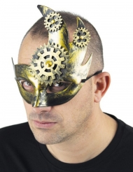 Retro Steampunk-Halbmaske Kostümzubehör gold