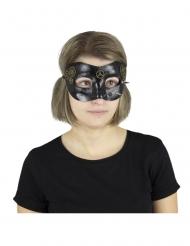 Steampunk Augenmaske für Erwachsene schwarz