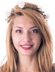 Mittelalterlicher Blumen-Kopfschmuck für Damen grün-weiss