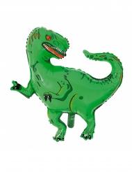 Dinosaurier T-Rex Folienballon Raumdekoration grün 77x78cm