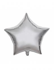 Stern-Ballon Partyzubehör Raumdekoration silber 40 cm
