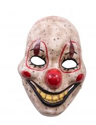 Fiese Clown-Maske mit beweglichem Kiefer Halloween bunt