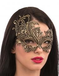 Makramee-Augenmaske Kostüm-Accessoire für Damen gold