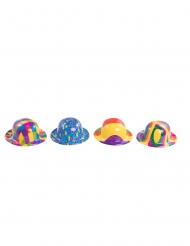 Miniatur-Clownshut für Erwachsene Zylinder bunt