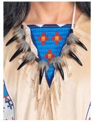Winnetou™-Halsschmuck Indianer-Collier Kostümzubehör braun-schwarz