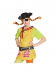 Pippi Langstrumpf™-Piraten-Set 4-teilig für Kinder Zubehör für Fasching bunt
