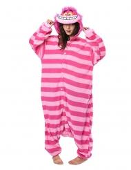 Grinsekatze-Overall Kigurumi™ Kostüm für Erwachsene rosa-pink