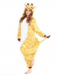 Giraffe Kigurumi™-Kostüm für Erwachsene gelb-weiss