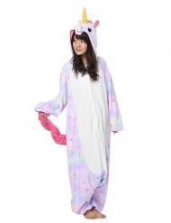 Einhorn-Kigurumi™ mit Sternen-Motiv Kostüm für Erwachsene rosa-weiss