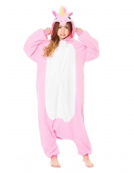 Kigurumi Einhorn-Overall Kostüm für Erwachsene rosa