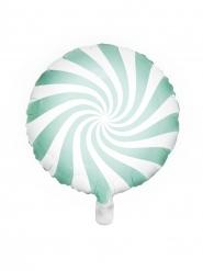 Aluminium-Ballon Lolli weiss-grün 45cm
