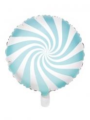 Lollipop-Ballon 50er-Jahre Partydeko weiss-blau 45 cm
