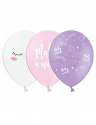 Einhorn-Luftballons aus Latex verschiedene Motive 6 Stück bunt 30 cm