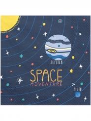 Space Adventure-Servietten Weltall-Tischzubehör 20 Stück bunt 33 x 33 cm