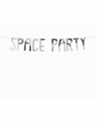 Space Party-Girlande für Astronauten silber 13 x 96 cm