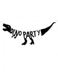 Dinosaurier-Girlande DINO PARTY 90 x 20 cm schwarz