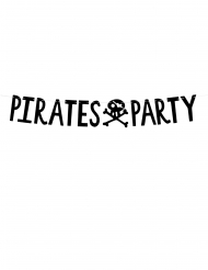 Girlande Pirates-Party Mottoparty-Raumdekoration schwarz 14 cm x 1 m