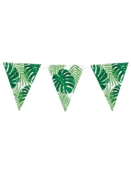 Karibische-Girlande mit Wimpeln Raumdekoration grün-weiss 15 cm x 1,3 m
