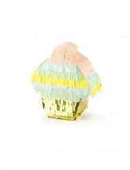 Cupcake Pinata Miniatur Geburtstags-Spiel bunt 9 x 10 x 3,5 cm