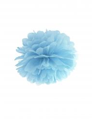 Pompon-Aufhänger Partydeko blau 35 cm