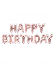 Geburtstags-Folienballons Raumdeko 13-teilig metallic rosa