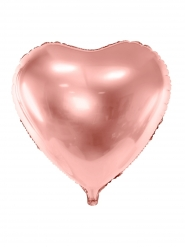Herz-Folienballon Raumdekoration roségold 45 cm