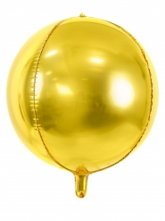 Christbaumkugel Aluminium-Ballon rund gold 40 cm