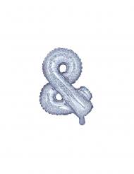 Glitzer-Luftballon Symbol & silber 35 cm