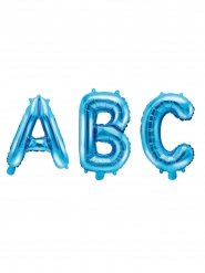 Buchstabenballon auswählbar Folienballon blau 35 cm