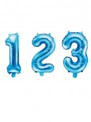 Zahlenballons Folienballons hellblau 35 cm
