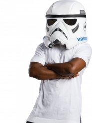 Stormtrooper™-Maske aus Schaumstoff Accessoire für Erwachsene weiss-schwarz