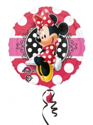 Minnie Maus™-Luftballon rund Partydeko bunt 43 cm
