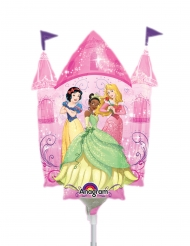 Disney™-Prinzessinnen-Schloss Folienballon pink 25 x 23 cm