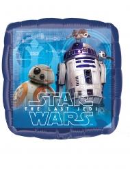 Star Wars™-Lufballon viereckig Partydeko blau 43x43 cm
