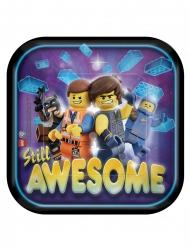 Lego Movie 2™-Pappteller Tischdekoration 8 Stück bunt 18 x 18 cm