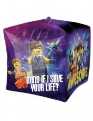 Lego2™-Aluminium Ballon Partydekoration bunt 38x38cm