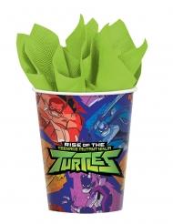 Ninja Turtles™-Trinkbecher Tischdeko 8 Stück bunt 266 ml