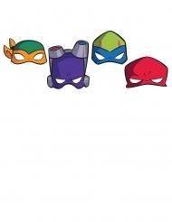NinjaTurtles™-Party-Masken Accessoire für Fasching 8 Stück bunt
