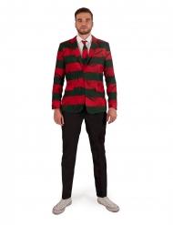 Freddy Krueger™-Kostüm für Erwachsene offizieller Suitmeister™ rot-grün-schwarz