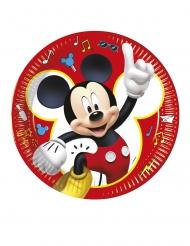 Mickey Maus™-Pappteller Tischzubehör 8 Stück bunt 23cm