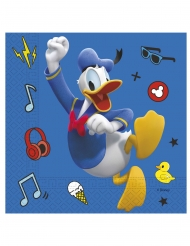 Mickey Maus™ & Donald Duck™-Servietten 20 Stück bunt 33x33cm