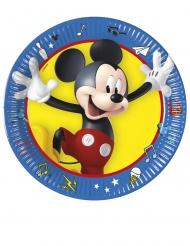 Mickey Maus™-Pappteller Tischzubehör Kindergeburtstag 8 Stück bunt 20cm